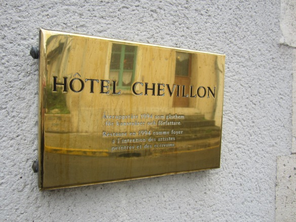 Hotel Chevillon is located on rue Carl Larsson, which is named after the Swedish painter.