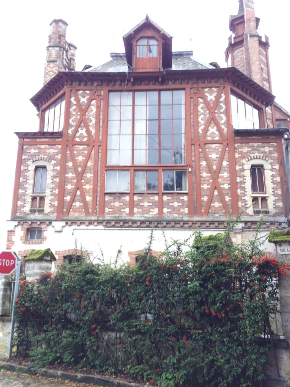 Chateau de By, Thomery, France (showing north-facing studio window)