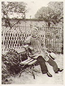 Rosa Bonheur in the garden of Chateau de By