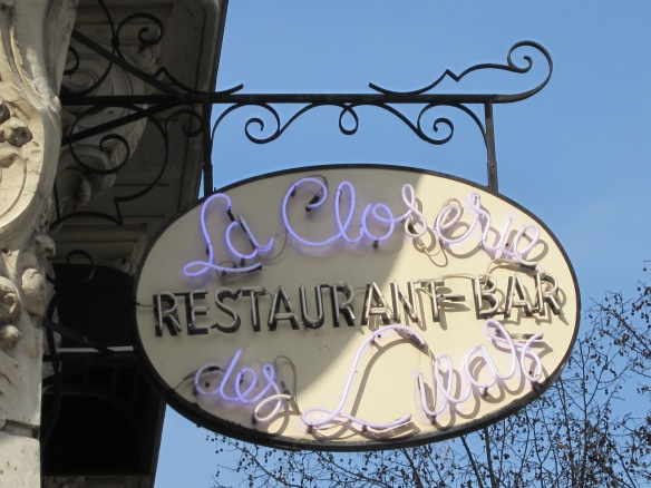 La Closerie des Lilas, the restaurant where Scott and Ernest met to plan their drive to Lyons together - a trip that would cement their friendship.