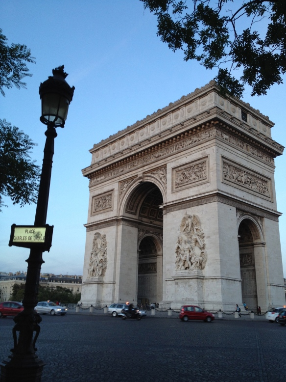 Zelda and Scott's view of the Arc de Triomphe from the corner of L'Etoile closest to their apartment. Not bad.