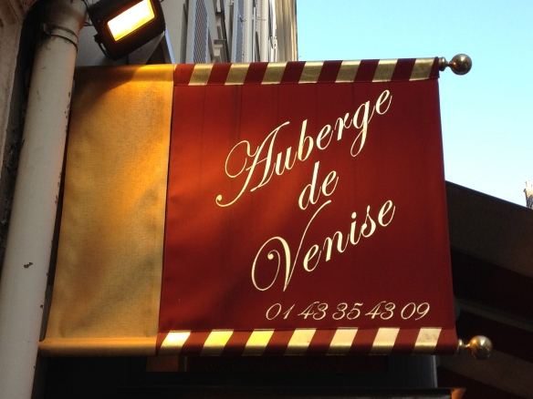 L'Auberge de Venise at 10 rue Delambre in Monparnasse. Formerly The Dingo, where Scott Fitzgerald met Ernest Hemingway in 1925.