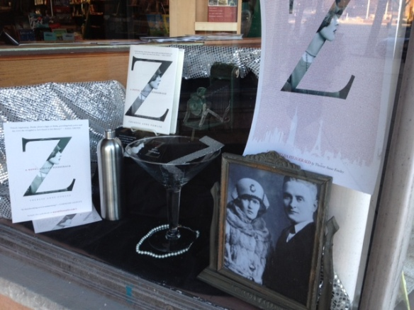 The folks at The Bookstore in Glen Ellyn, Illinois love Z so much we've decorated our front window in honor of Zelda.