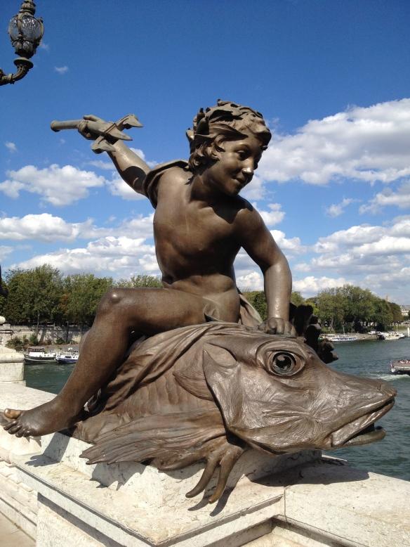Bronze sculpture adorning Pont Alexandre III