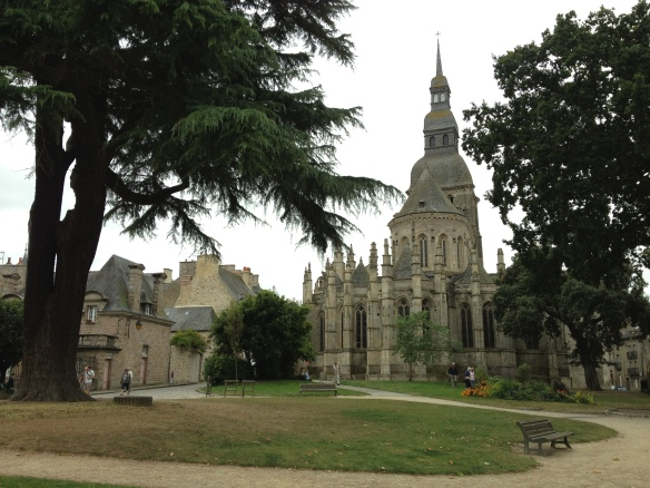 The gardens behind Basillica St-Saveur in Dinan, France
