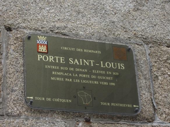 The Porte Saint-Louis, located next to the Pension de Madame Costes