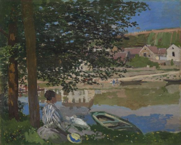 On the Banks of the Seine, Bennecourt, oil on canvas by Claude Monet, Art Institute of Chicago, Potter Palmer Collection