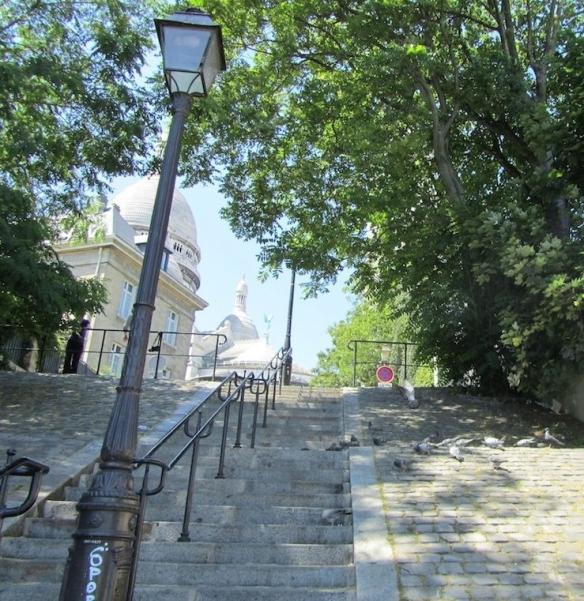 Stairway on rue du Chevalier de la Barre