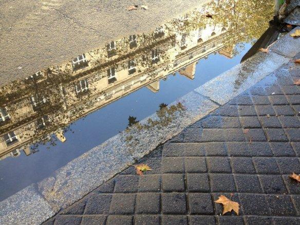 A Paris puddle on Avenue Kléber in the 16th