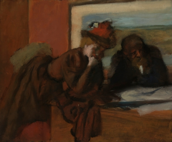 Edgar Degas, The Conversation (1885-1895), Yale University Art Gallery, Collection of Mr. and Mrs. Paul Mellon.