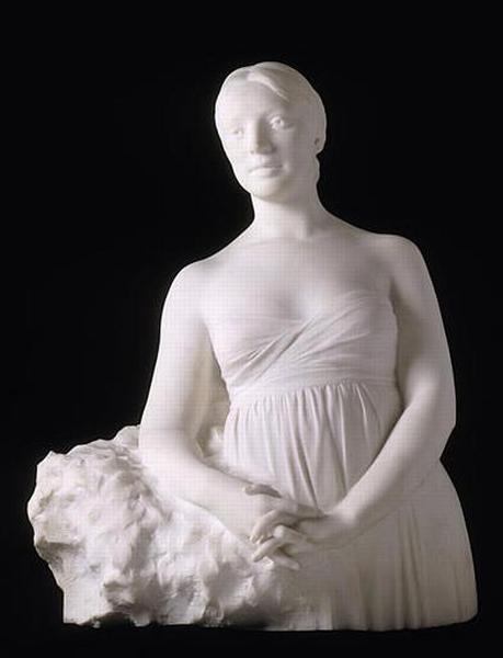 Albert Bartholomé, Bust, Madame de Bartholomé, Née Florence Letessier, Second Spouse of the Artist (1909). Image:http://www.culture.gouv.fr/public/mistral/joconde