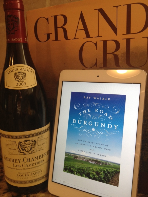 Before you settle down with The Road to Burgundy, stop by your local wine shop for a bottle of a nice Pinot Noir from Burgundy. This one's from Gevrey- Chambertin, not far from the vineyards where Walker's grapes grow.