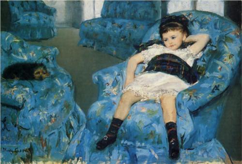 Mary Cassatt, Little Girl in a Blue Armchair (1878), National Museum of Art.