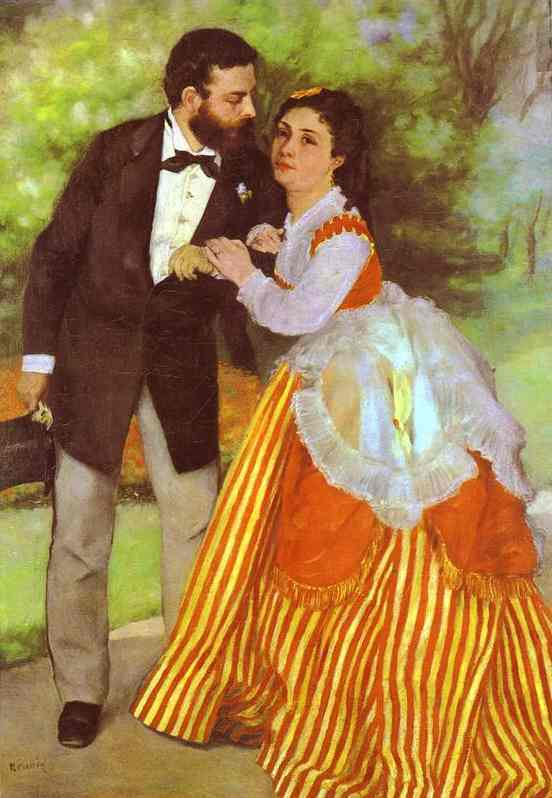 Renoir, Alfred Sisley and His Wife (1868)