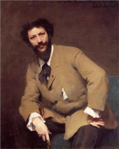 "John Singer Sargent's portrait of Carolus- Duran (1879), Clark Art Institute, Williamston, Massachusetts. When Jeanette meets JOhn Singer Sargent at a garden party, she says: ""I hear your portrait of Carolus is wonderful."""