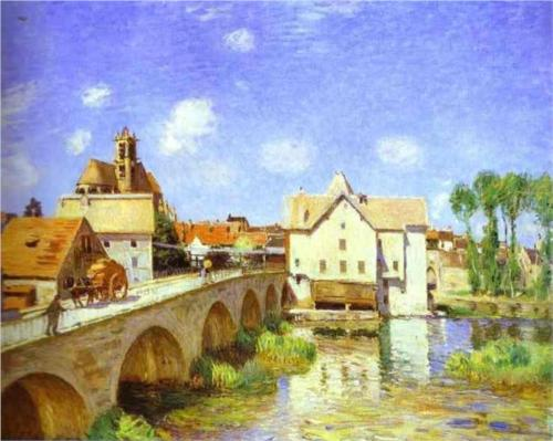 The Bridge at Moret, Alred Sisley (1893), Musée d'Orsay, Paris