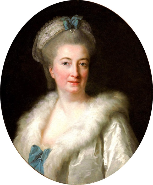 Portrait of The Artist's Mother, Madame Le Sevre (painted around 1768, when Elisabeth would have been only 13 years old.)  This painting was sold for $122,500 at a Christie's auction in 2012.