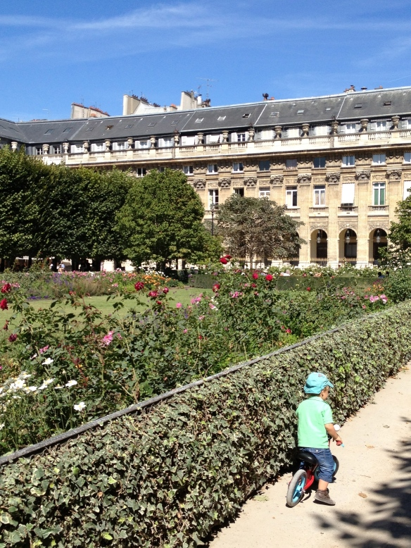 The gardens of the Palais-Royal, where Vigée Le Brun strolled alongside the French aristocracy who would commission her to paint their portraits.