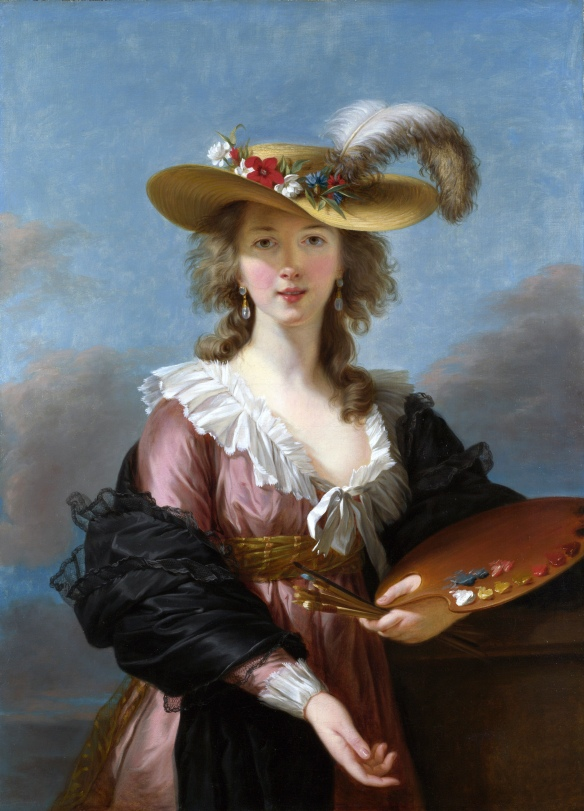 Self-Portrait in a Straw Hat by Elisabeth Vigée Le Brun (1782). Original in a private collection, copy at the National Gallery of London.