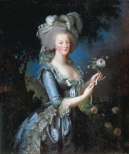 Marie Antoinette with a Rose by Elisabeth Vigée Le Brun (1783)