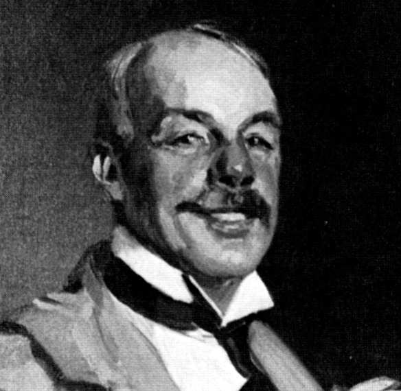 A close-up image of a portrait of François Tonetti by François Flameng. Source: http://palisadesny.com/nature/take-hike/
