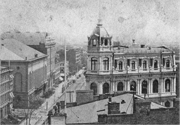German Savings Bank around 1872, site of Augustus St. Gaudens studio. Source: Office for Metropolitan HIstory NYC