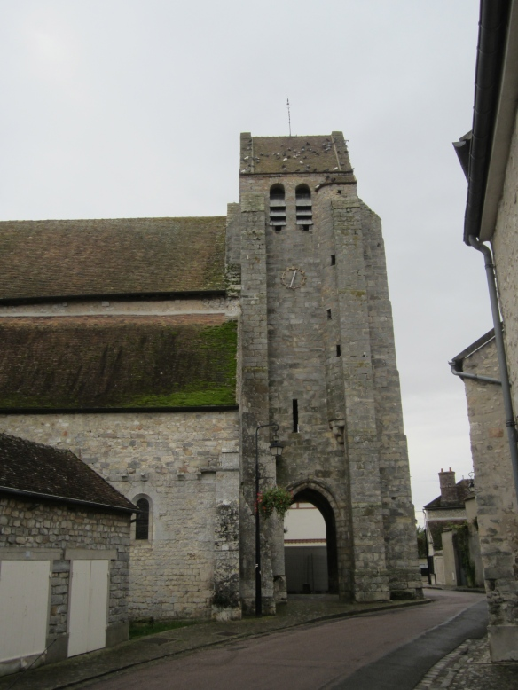 On the main street in Grez: Church of Our Lady and Saint Lawrence, 12th century