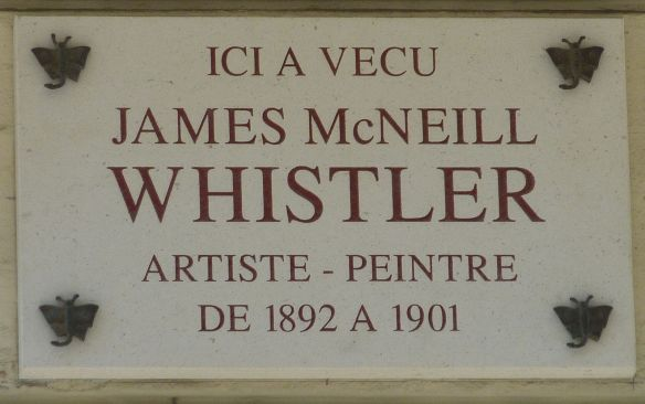 The plaque at James Whistler's home in rue de Bac where Mary Lawrence first met François Tonetti in 1893. Source: http://www.flickr.com/photos/monceau/7759948652/