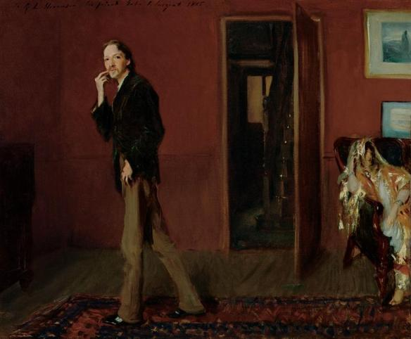 Robert Louis Stevenson and His Wife by John Singer Sargent (1885)