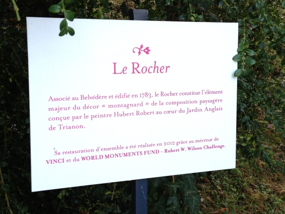 Le Rocher is a man-made rock formation created for Marie Antoinette's rustic gardens of the Petit Trianon