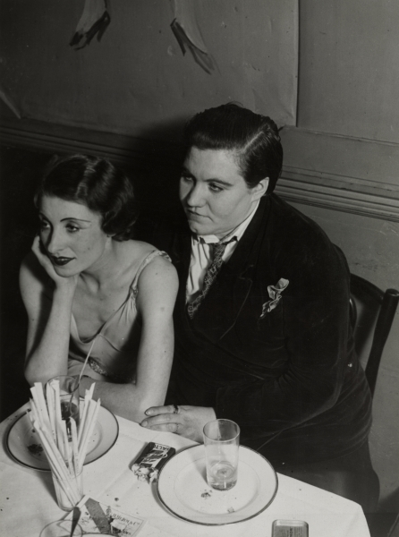 """Lesbian Couple at Le Monocle, 1932"" by Brassai, Cleveland Museum of Art"