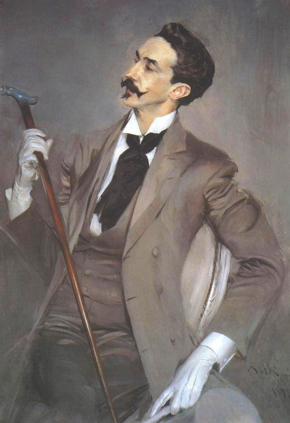 Robert de Montisquiou as painted by Giovanni Boldini (1897), Musée d'Orsay