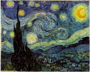 Van Gogh, Starry Night (1889), Museum of Modern Art, New York