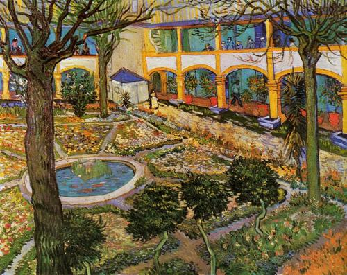 The Asylum Garden at Arles, 1889 (oil on canvas), Gogh, Vincent van (1853-90) / Oskar Reinhart Collection, Winterthur, Switzerland / The Bridgeman Art Library
