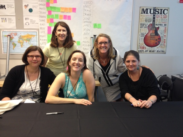 A gathering at Printers Row Litfest (from left to right): Jenny Offill, Sue Kowalski, Rebecca Makai, Margie White and Robin Black