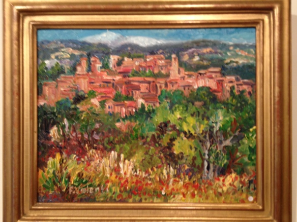 An artist I admired in a gallery in Roussillon: Francoise Valenti.