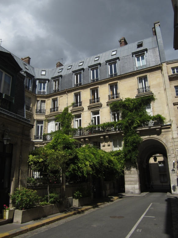 The view of the back of Edith Wharton's apartment at 53 rue de Varenne, which overlooked beautiful private gardens.