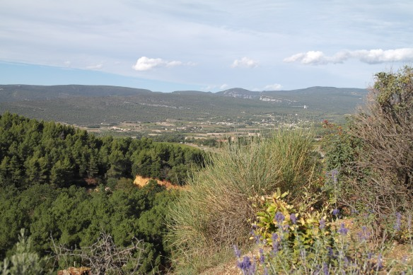 The view of the Luberon from Roussillon