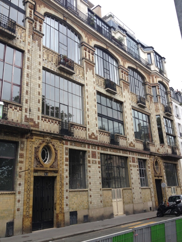 30 rue Campagne Premier, Man Ray's home and studio. He first moved here in 1926. He lived here with Lee Miller for three years. The architecture of the building is still beautiful after all these years.