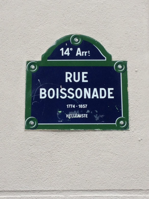 rue Boissonade, the short little street where Nora and Jamie lived in Montparnasse, just two blocks away from Lee Miller and May Ray.