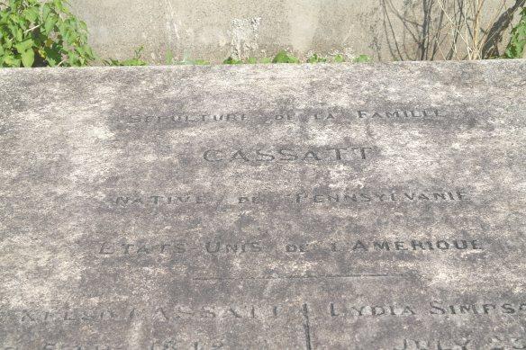 Family Cassatt's grave marker
