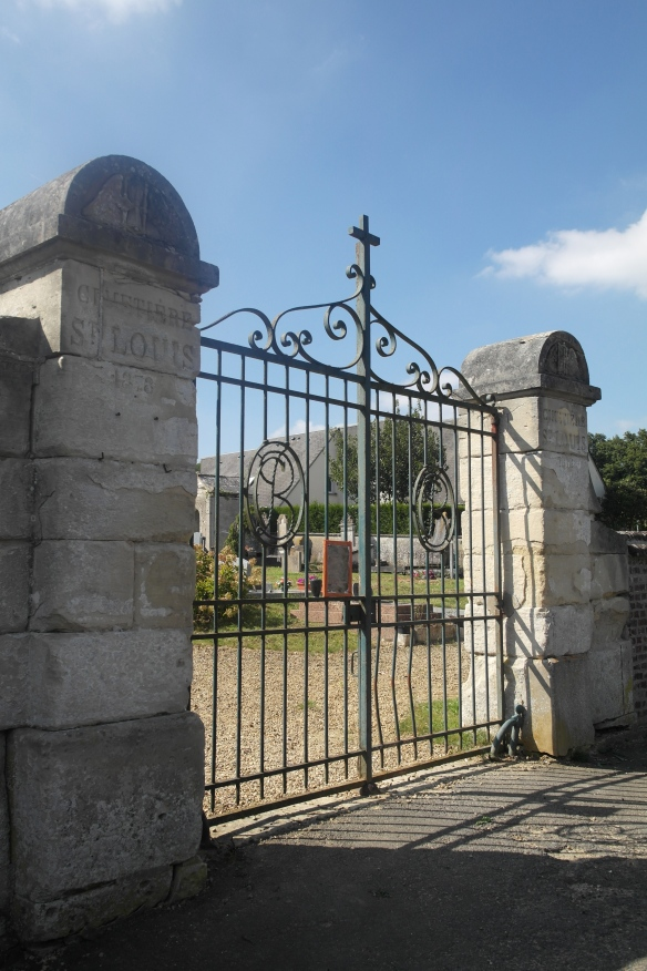 The cemetery gates of Le Mesnil-theribus