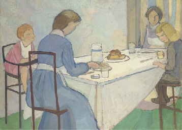 Vanessa Bell, Nursery Tea (1912)
