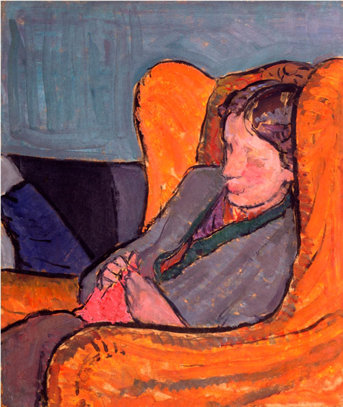 Vanessa Bell, Viginia Woolf [In An Armchair] (1911-12), Oil on canvas, National Portrait Gallery, London