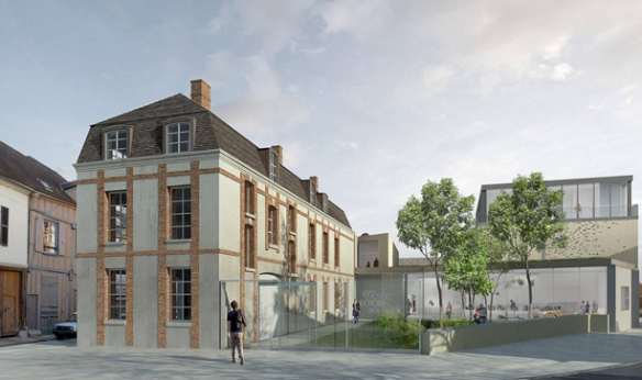 Rendering of the future Musée Camille Claudel in Nogent-sur-Seine