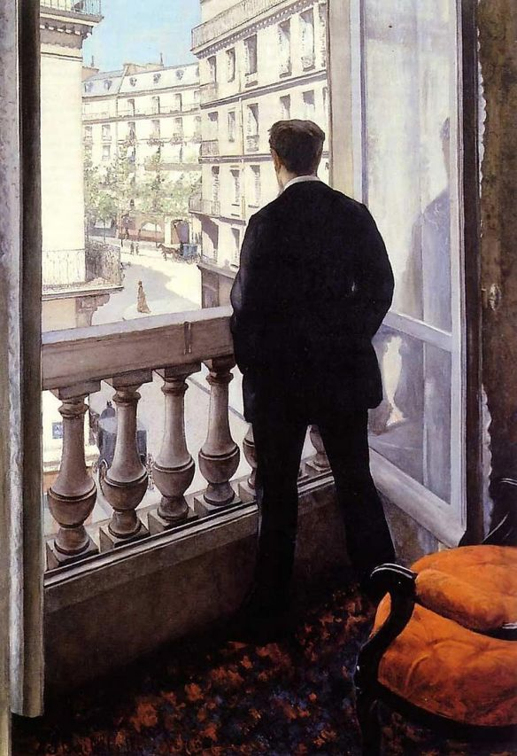 Gustave Caillebotte, Young Man at the Window (1876), Private Collection
