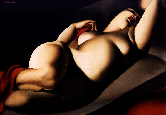 Tamara de Lempicka, La Belle Rafaela (1927), oil on canvas, private collection