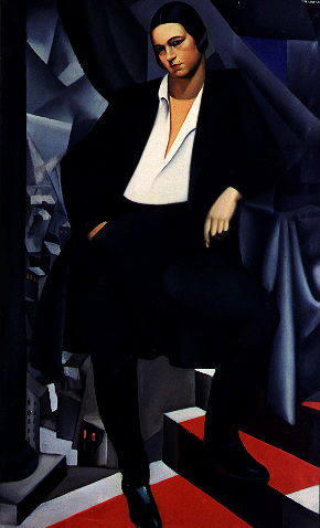 Tamara de Lempicka, Portrait of the Duchess of  La Salle (1925), oil on canvas, private collection.