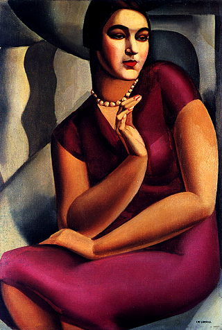 Tamara de Lempicka, Portrait of the Duchess of Valmy (1924), Oil on canvas, private collection