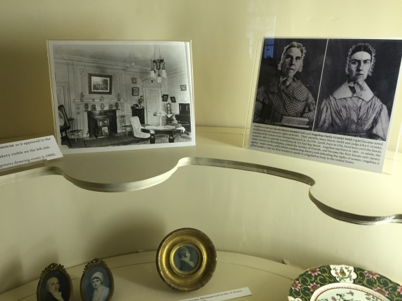 In a hutch on the first floor, there are photos of the Grimké Sisters on display. However, most of the tour is about the Hayward family who lived there during the revolution.